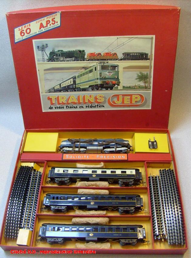 COFFRETS JEP HO de 1959 à 1964   -Avec le nouveau moteur AP5 Type 2-Avec le moteur  AP3 série 61 -Avec moteur mécanique 14062806111316773112351195