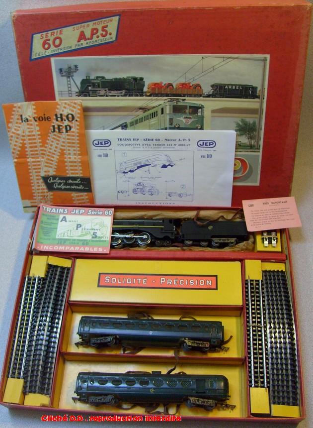COFFRETS JEP HO de 1959 à 1964   -Avec le nouveau moteur AP5 Type 2-Avec le moteur  AP3 série 61 -Avec moteur mécanique 14062806394216773112351260
