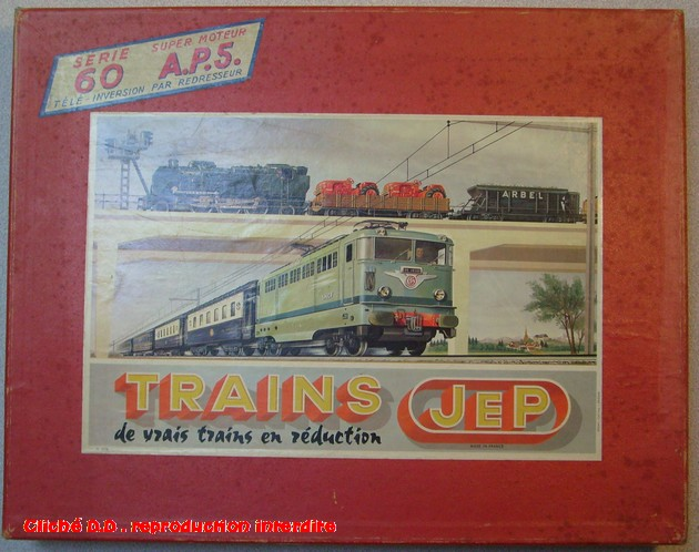 COFFRETS JEP HO de 1959 à 1964   -Avec le nouveau moteur AP5 Type 2-Avec le moteur  AP3 série 61 -Avec moteur mécanique 14062806440316773112351284