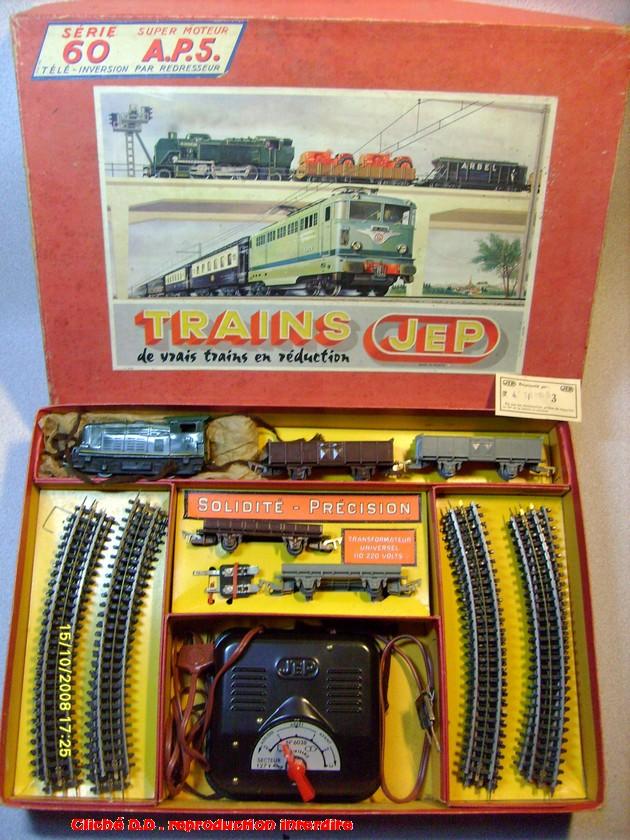 COFFRETS JEP HO de 1959 à 1964   -Avec le nouveau moteur AP5 Type 2-Avec le moteur  AP3 série 61 -Avec moteur mécanique 14062806502316773112351330