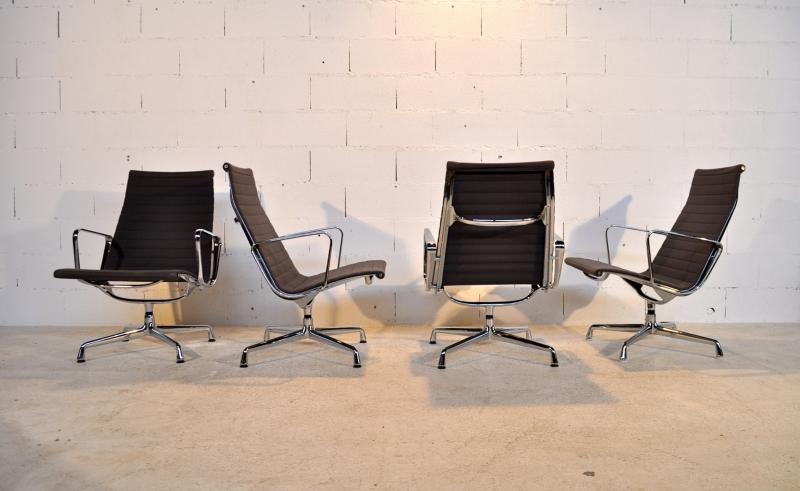 4 fauteuils eames ea 115 vitra herman miller ann es 80 39 ebay. Black Bedroom Furniture Sets. Home Design Ideas