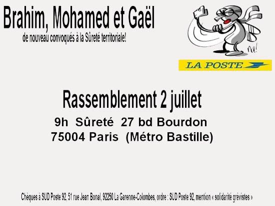 Stoppons la répression à La Poste ! 1407010901303128012359300