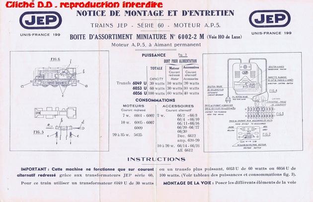 COFFRETS JEP  OO-HO de 1952 à 1959 série 60 14070610193416773112368696