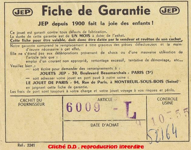 COFFRET 1955 6009-L BON G