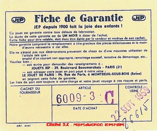COFFRET 1959  6009-3 C BON G