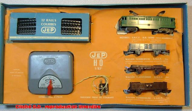 COFFRETS JEP HO de 1959 à 1964   -Avec le nouveau moteur AP5 Type 2-Avec le moteur  AP3 série 61 -Avec moteur mécanique 14071209555816773112381653