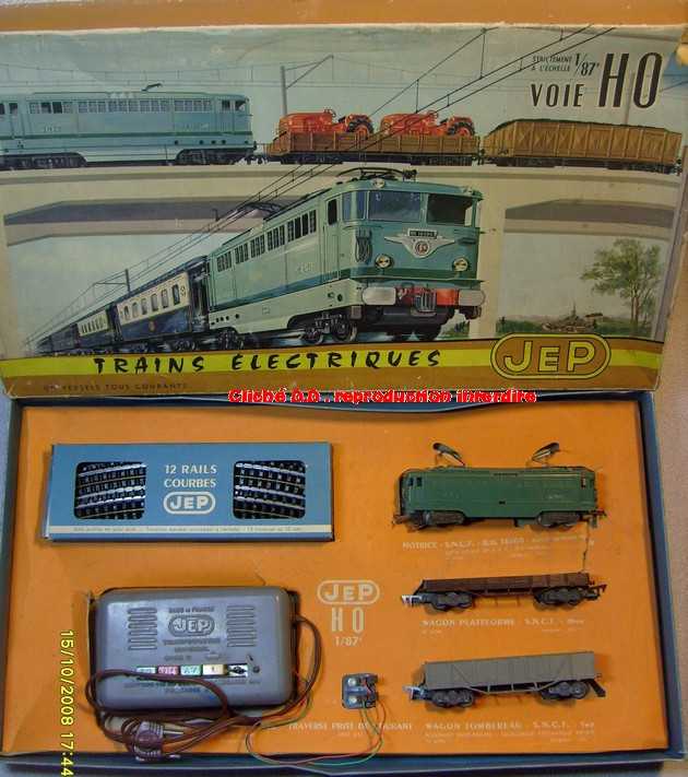 COFFRETS JEP HO de 1959 à 1964   -Avec le nouveau moteur AP5 Type 2-Avec le moteur  AP3 série 61 -Avec moteur mécanique 14071209560616773112381658