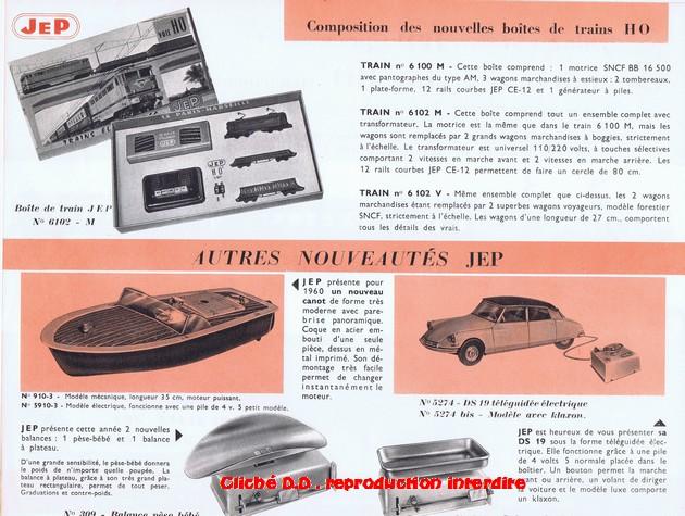 COFFRETS JEP HO de 1959 à 1964   -Avec le nouveau moteur AP5 Type 2-Avec le moteur  AP3 série 61 -Avec moteur mécanique 14071210373516773112381760