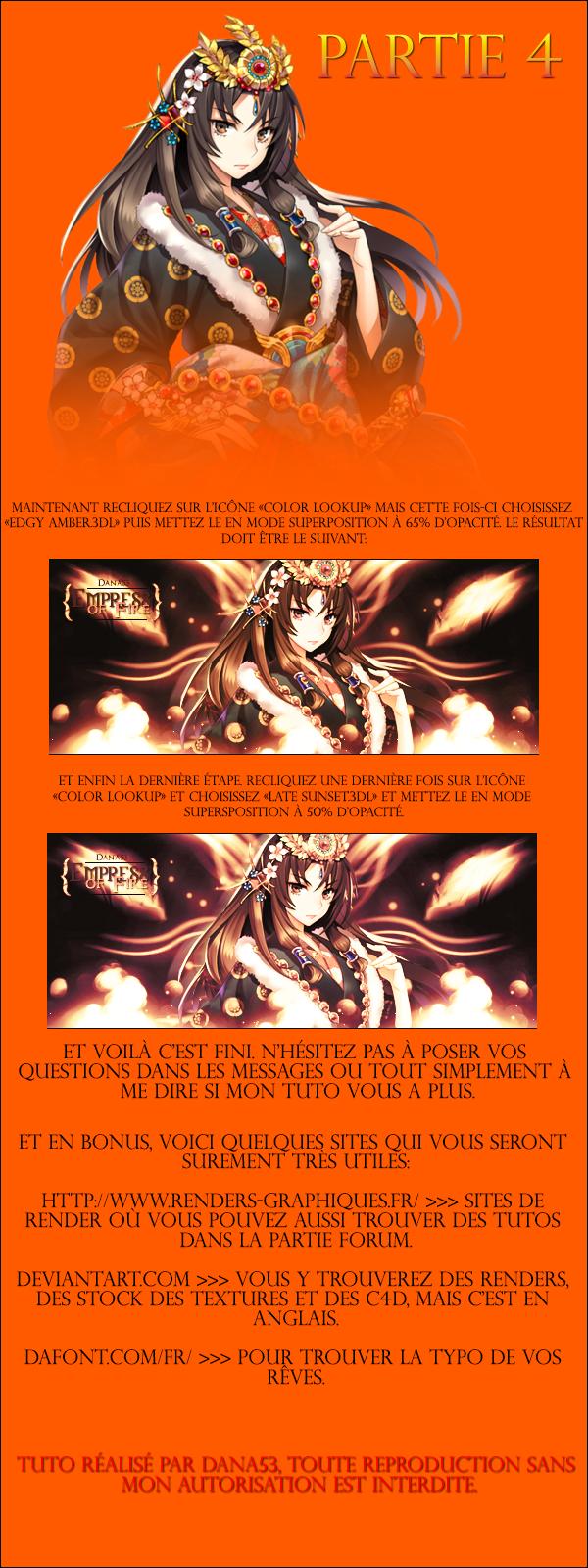 """[Orange et +] Signature complète """"Empress of Fire"""" 14080907105411422112441966"""