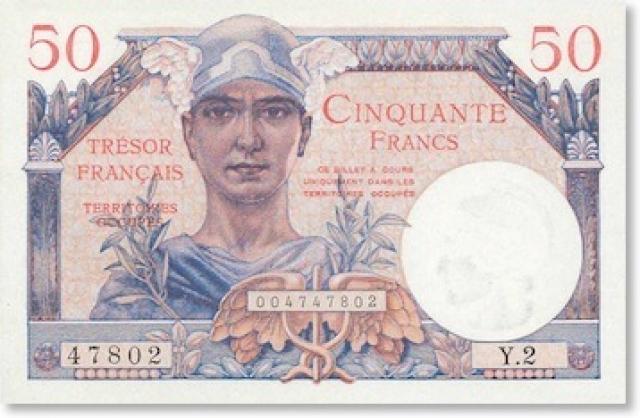 50 francs 1947
