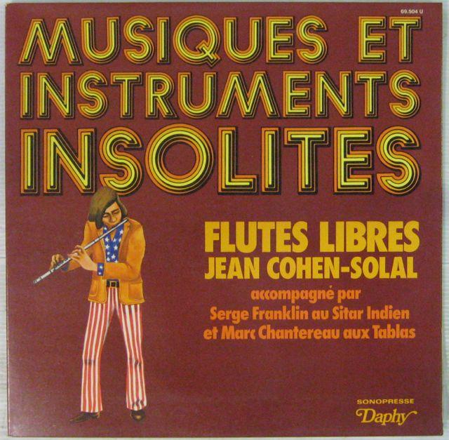 COHEN-SOLAL JEAN - Flûtes libres - LP Gatefold