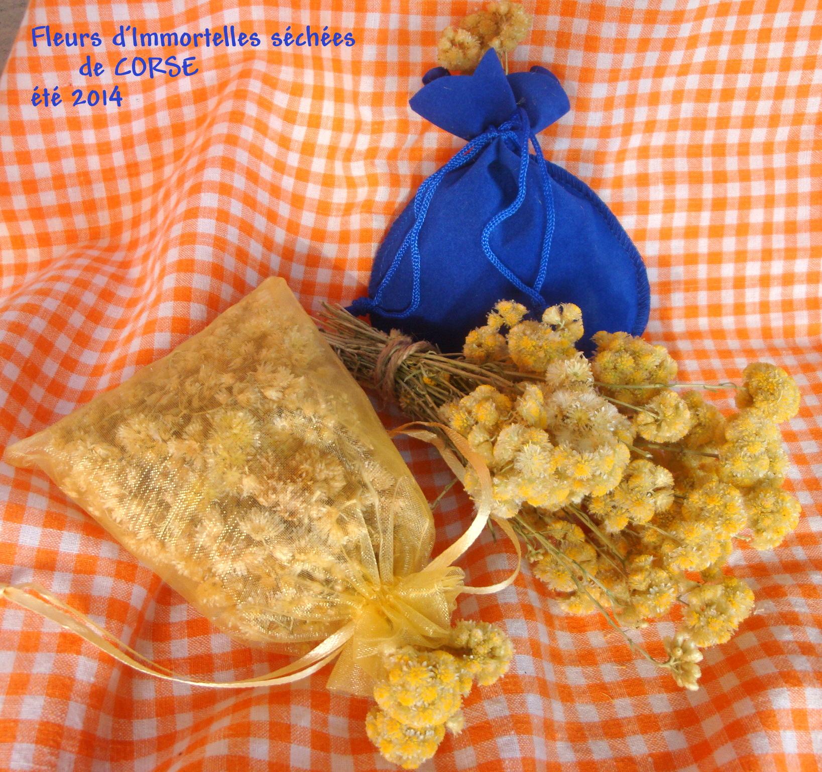 lot fleurs d 39 immortelle corse 1 bouquet sec 2 sachets senteur maquis artisanal. Black Bedroom Furniture Sets. Home Design Ideas