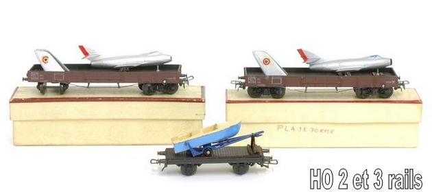 Wagons plats à bogies maquette et semi maquette chargés 1409081125068789712509909