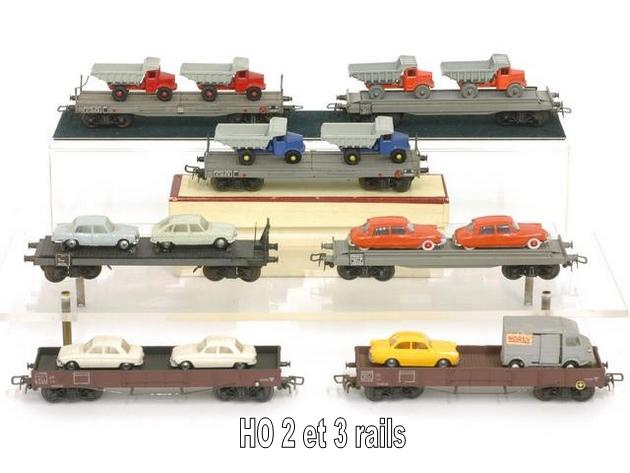 Wagons plats à bogies maquette et semi maquette chargés 1409081125158789712509923