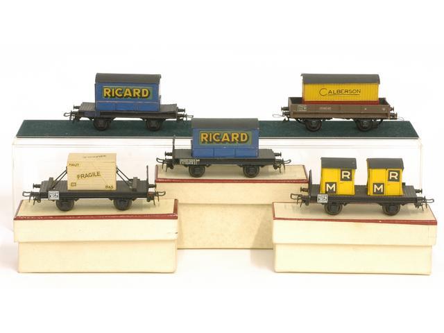 Wagons plats 2 ess maquette et semi maquette chargés par ordre alphabetique 1409081126468789712509939