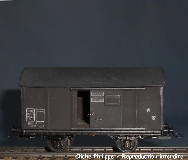 Wagons couverts 2 essieux maquette 1409081127488789712509956