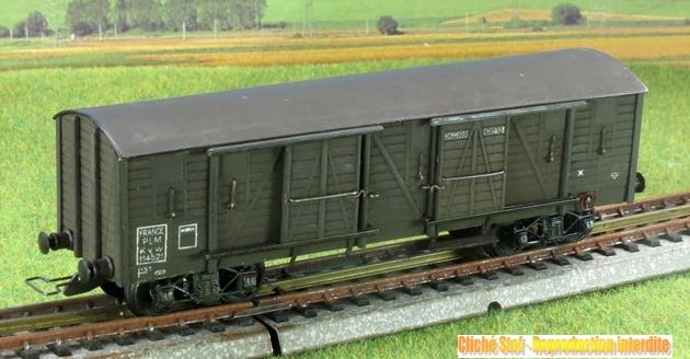 Wagons couverts à bogies maquette  1409081128048789712509970