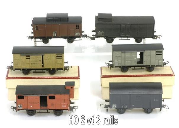 Wagons couverts 2 essieux maquette 1409081129148789712509975