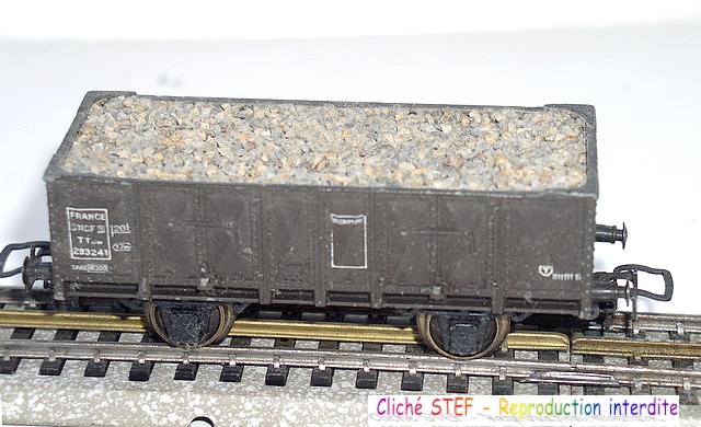 Wagons tombereau 2 essieux maquette chargés 1409081129208789712509986