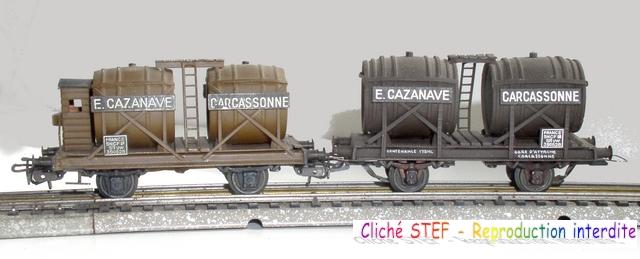 Wagons à 2 ess maquette citernes, foudres 1409081130598789712510012