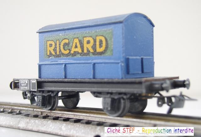 Wagons plats 2 ess maquette et semi maquette chargés par ordre alphabetique 1409100626478789712513698