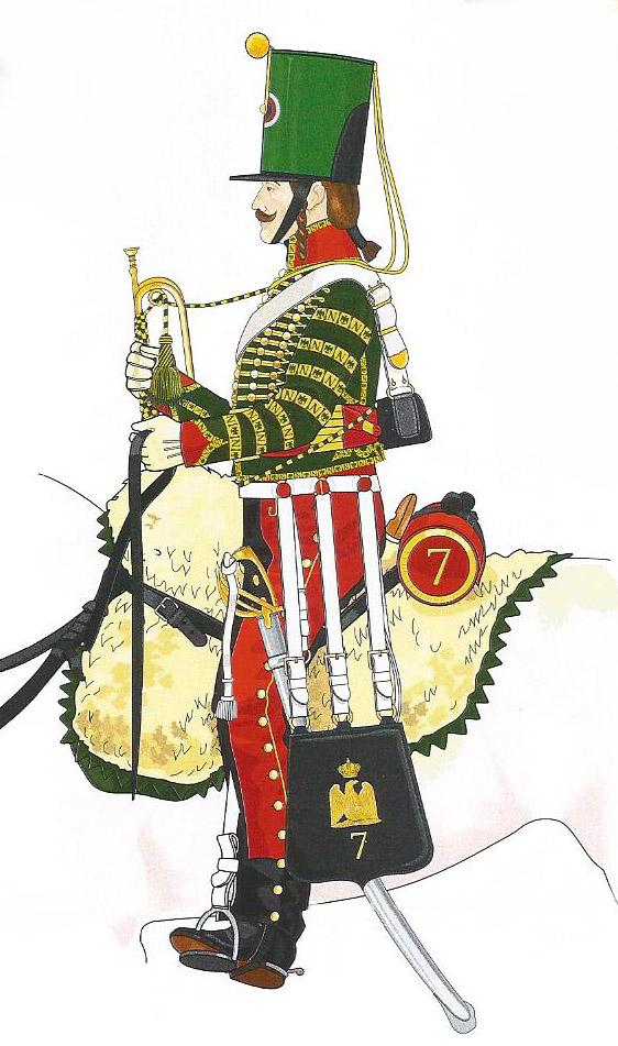 Trompette de Hussards du 7ème Régiment à Waterloo. 1409111239553593412515293