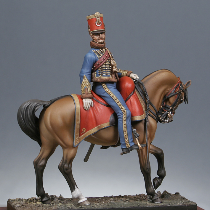 Trompette de Hussards du 7ème Régiment à Waterloo. 1409130703303593412519637