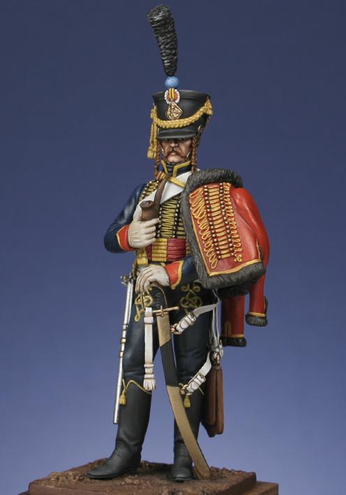 Trompette de Hussards du 7ème Régiment à Waterloo. 1409130703323593412519639
