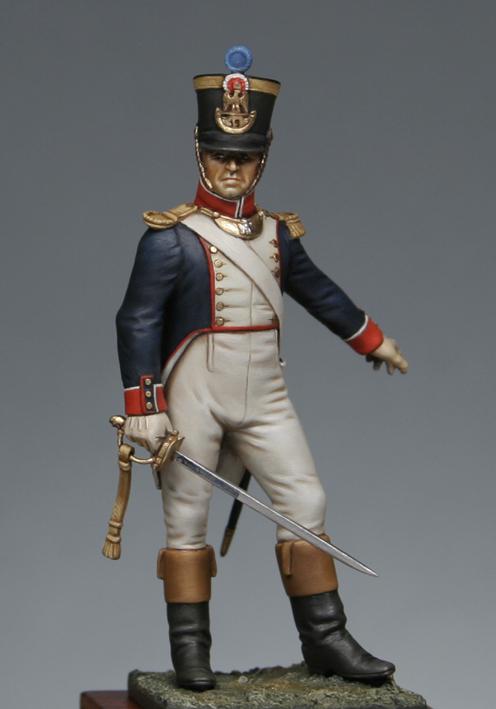 Trompette de Hussards du 7ème Régiment à Waterloo. 1409130703373593412519642