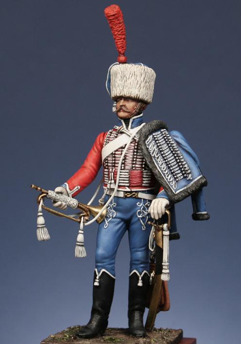 Trompette de Hussards du 7ème Régiment à Waterloo. 1409130703403593412519644