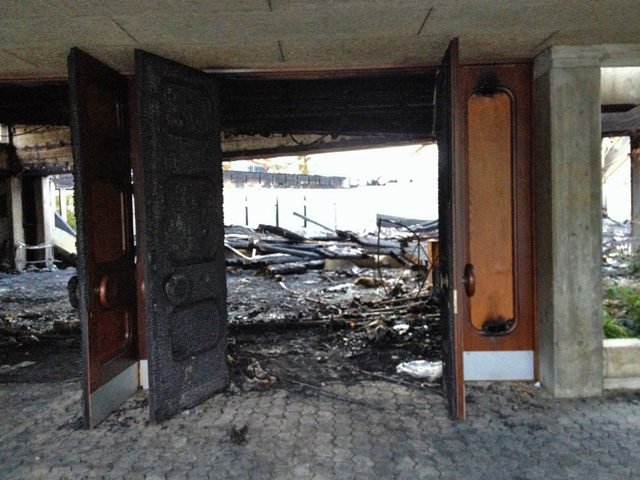 2014 : Eglise du Lignon détruite par un incendie 1409160235541858212527275