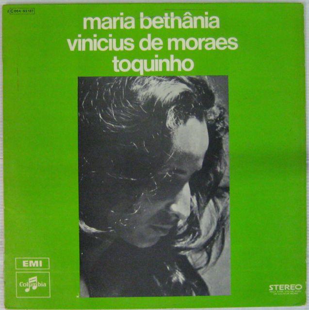 BETHÂNIA MARIA/VINICIUS DE MORAES/ TOQUINHO - Vinicius + Bethania + Toquinho - LP