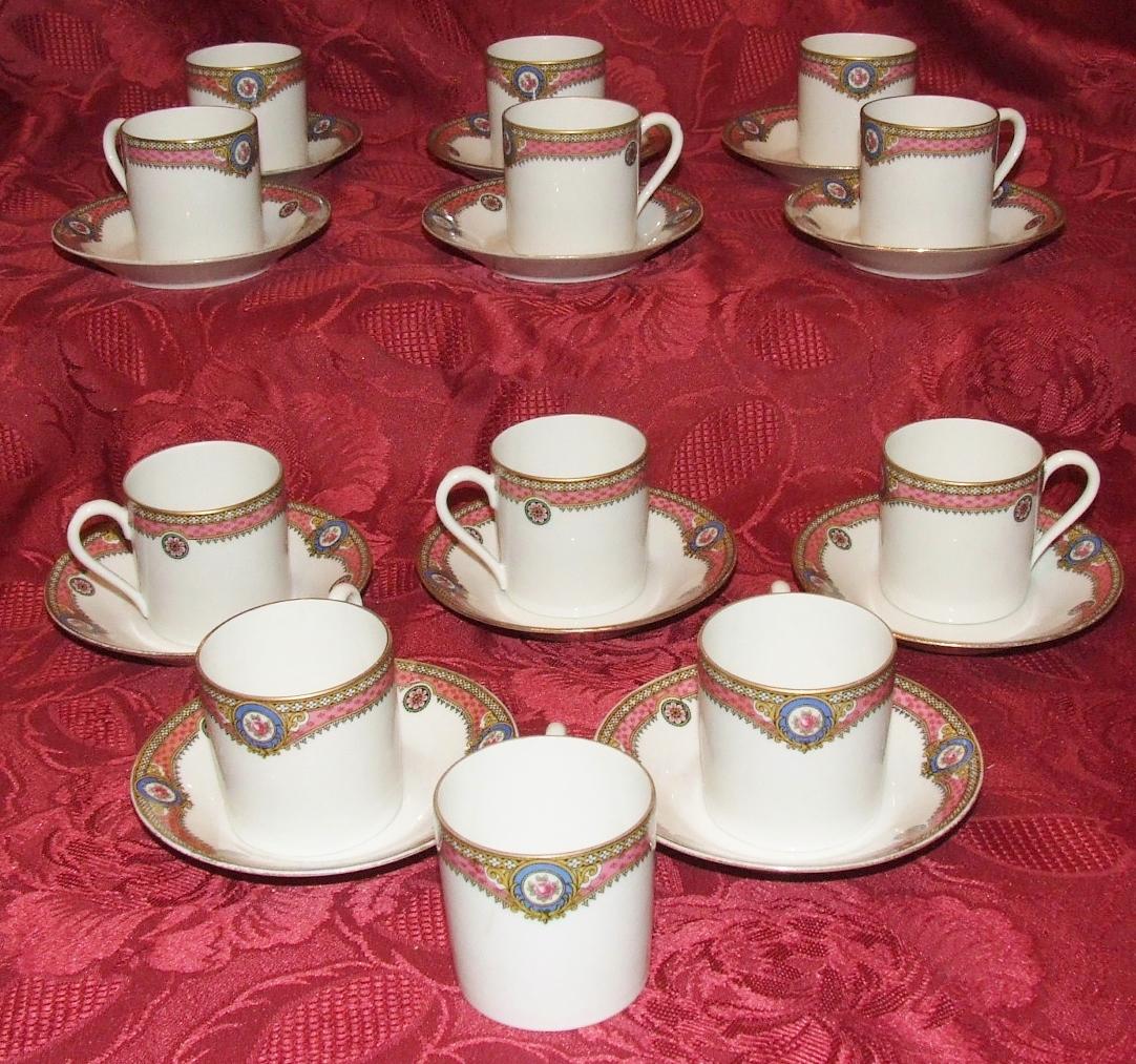 porcelaine de limoges legrand service a cafe the ancien 12 tasses style empire. Black Bedroom Furniture Sets. Home Design Ideas