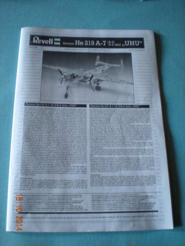 Heinkel He 219-A revell 1410180534319761712623509