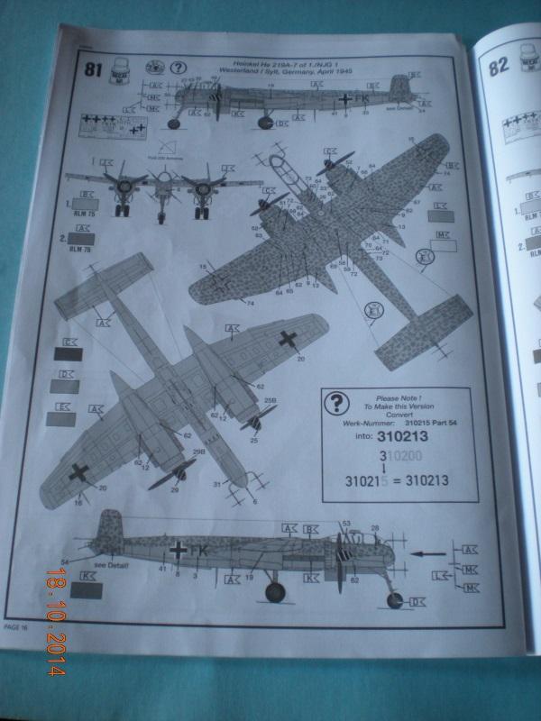 Heinkel He 219-A revell 1410180534349761712623511