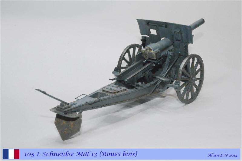 Canon 105 L Schneider Mdl 1913 roues bois ÷ BLITZ ÷ 1/35 1410261057225585012646823