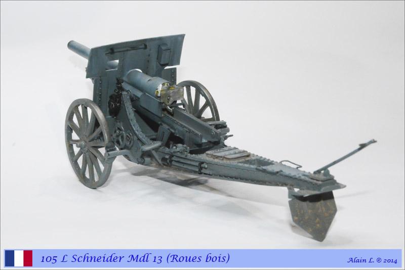 Canon 105 L Schneider Mdl 1913 roues bois ÷ BLITZ ÷ 1/35 1410261057235585012646824