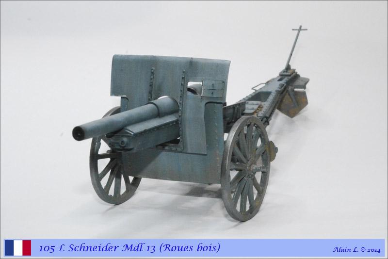 Canon 105 L Schneider Mdl 1913 roues bois ÷ BLITZ ÷ 1/35 1410261057255585012646825
