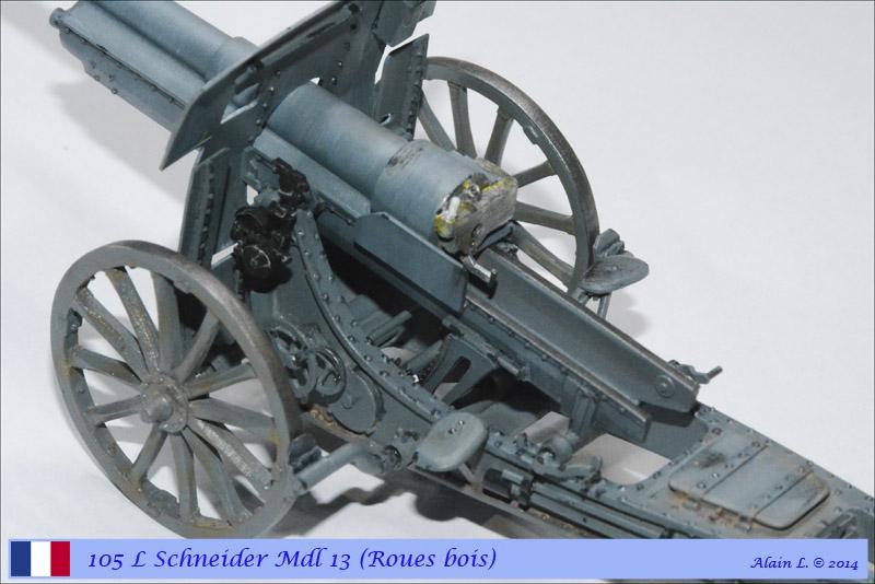 Canon 105 L Schneider Mdl 1913 roues bois ÷ BLITZ ÷ 1/35 1410261057285585012646827