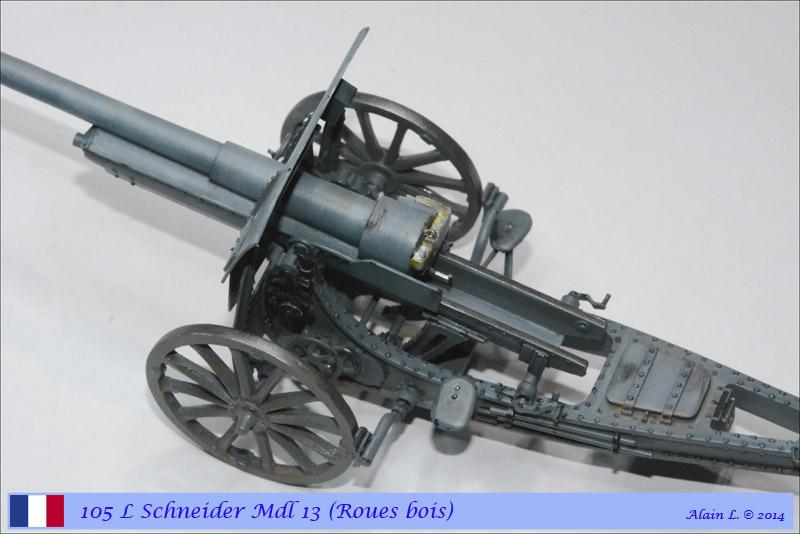 Canon 105 L Schneider Mdl 1913 roues bois ÷ BLITZ ÷ 1/35 1410261057325585012646830