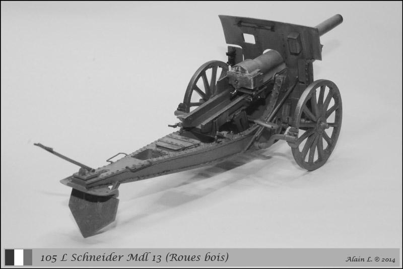 Canon 105 L Schneider Mdl 1913 roues bois ÷ BLITZ ÷ 1/35 1410261057335585012646831