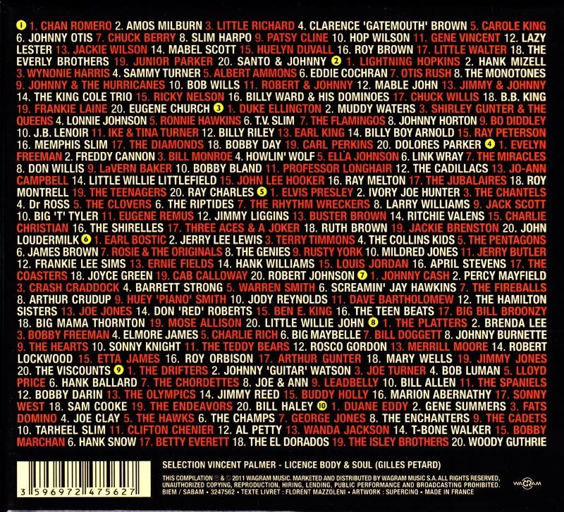 """Sélection de 200 titres par VINCENT PALMER (BIJOU) pour le coffret 10 CDs """"ROCK&FOLK : aux origines du rock"""" (Body & Soul/Wagram, 2011) 14121412310517899512793339"""