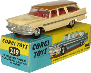 Plymouth Sports Suburban station wagon Corgi-Toys