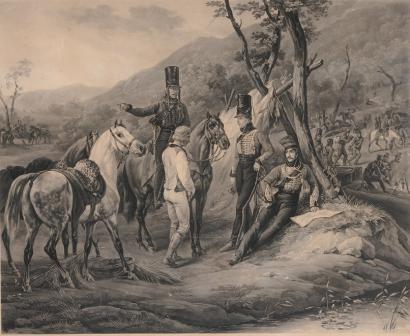 Trompette de Hussards du 7ème Régiment à Waterloo. 1501100208073593412862317