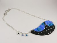 Collier moderne Roses Bleues