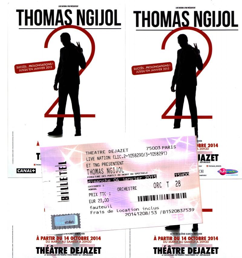 """THOMAS NGIJOL (spectacle & one-man-show """"2"""") 04/01/2015 Théâtre Déjazet (Paris) : compte rendu 15011711265017899512884618"""
