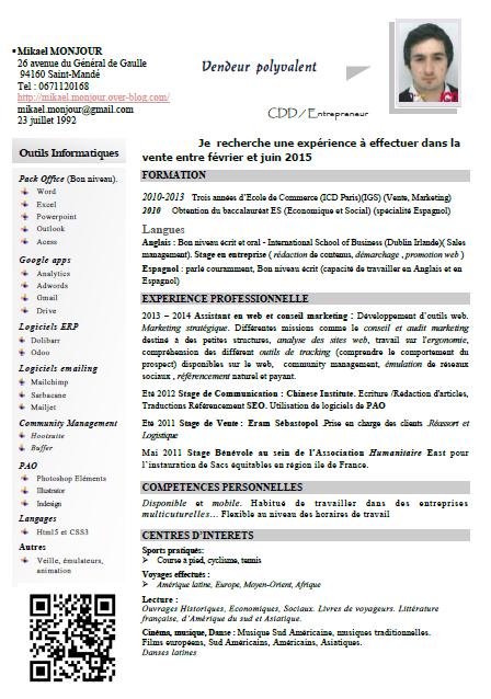 cv gratuit en pdf