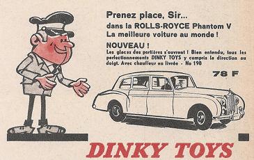 Publicité Rolls-Royce Phantom V Dinky-Toys