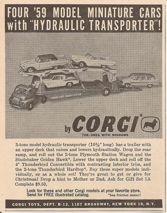 Publicité Gift Set 1A Corgi-Toys
