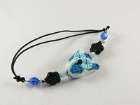 bijoux hiboux bracelet chouette blanc et bleu